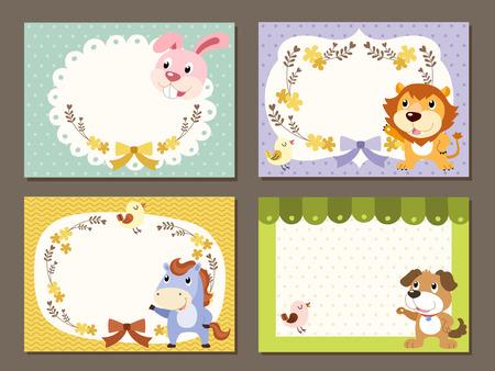lovable diverse animals memo paper collection set