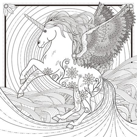 Fantastic Unicorn Illustration