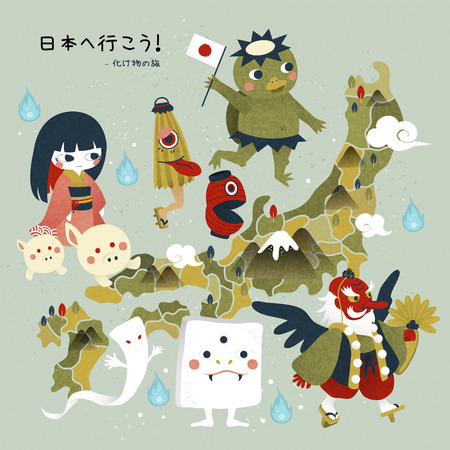 lovely japan monster travel map let s go to japan and monster