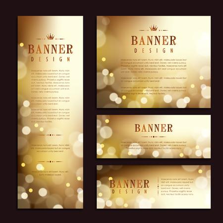 Illustration pour Gorgeous banner template design. abstract gold sparkling background. - image libre de droit