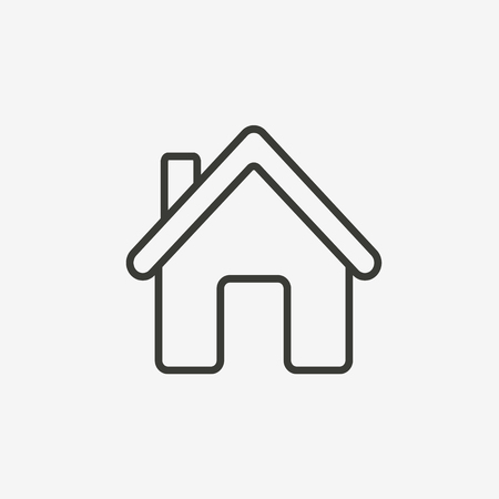 Illustration pour house or home icon of brown outline for illustration - image libre de droit