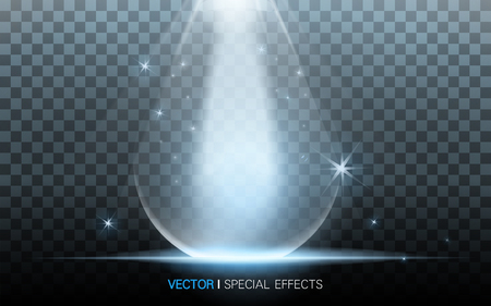 blue waterdrop with beautiful refractions on transparent background, 3D illustration