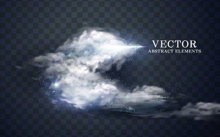 Illustration pour cloudy effect and icy cone, transparent background, 3d illustration - image libre de droit