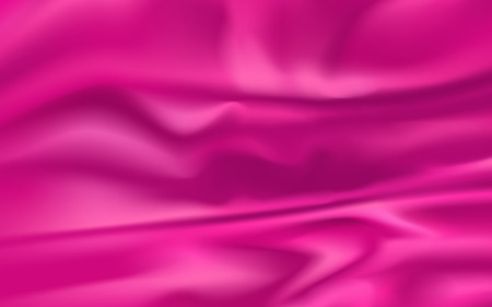 Illustration for wrinkled pink fabric element, can be used as background - Royalty Free Image