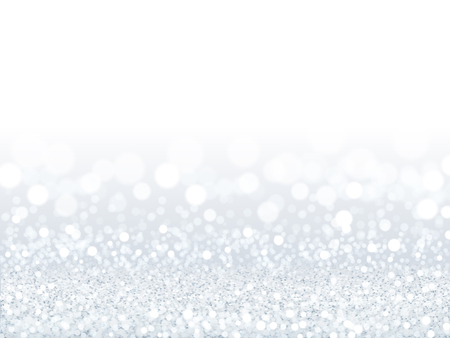 Ilustración de Attractive white sequins background, silver and white particles composed of bokeh wallpaper in 3d illustration - Imagen libre de derechos