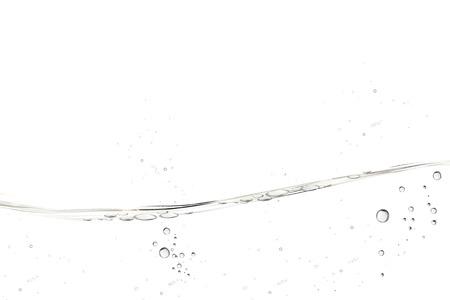 Illustration pour Water transparent surface with bubbles on white background in 3d illustration - image libre de droit