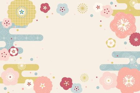 Illustration pour Lovely flat design flowers background with copy space - image libre de droit