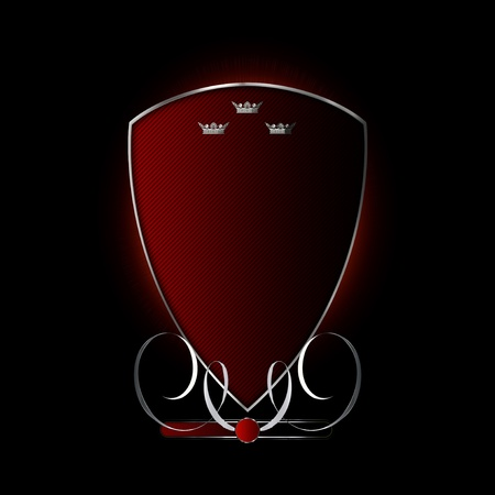Abstract shield for the design of your logo