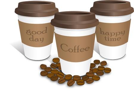 Illustration pour coffee cup espresso cafe background - image libre de droit