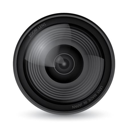 Illustration for Camera lens over white background, Illustration Vector 10 - Royalty Free Image