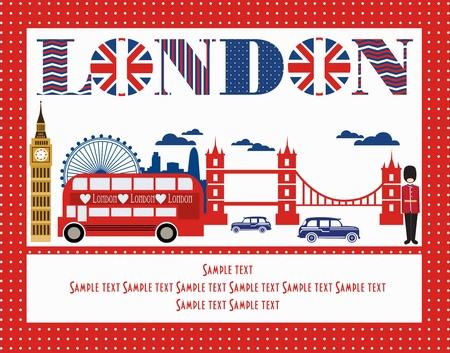London card design. vector illustration
