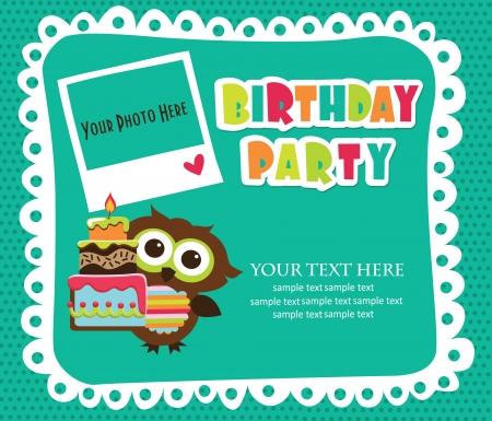 Illustration for kid invitation card design. vector illustration - Royalty Free Image