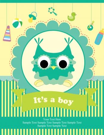 Illustration for baby shower card design. vector illustration - Royalty Free Image