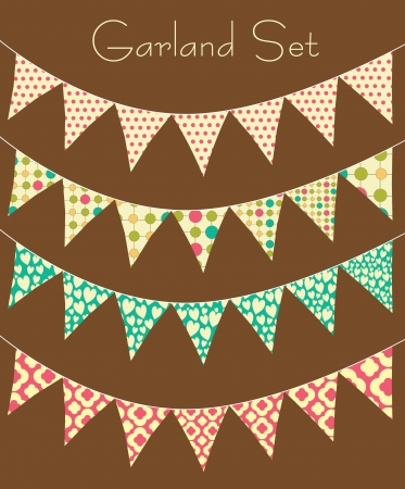 Illustration for garland collection. vector illustration - Royalty Free Image