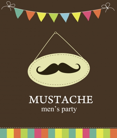 Foto de mustache party card  illustration - Imagen libre de derechos