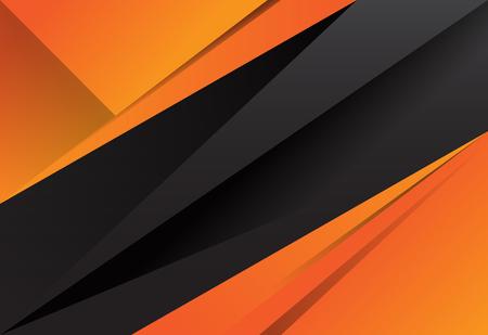 Illustration pour Black and orange abstract layer geometric background - image libre de droit
