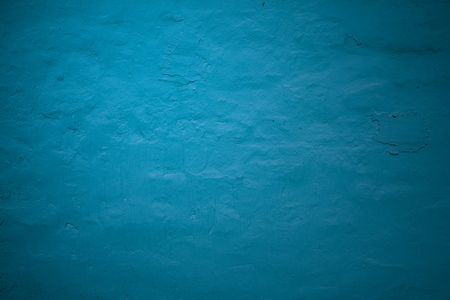 Urban Turquoise background - uneven scratched concrete wall