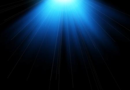 Sun flash with rays and spotlight. Light effect, sun rays, beams on black background. Vector illustration.