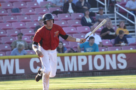28	Stephen Branca,shortstop of the 2012 Salem-Keizer Volcanos,Hit a single at Volcano Stadium. August 1st.