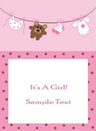 Photo for Baby Girl Announcement - Royalty Free Image