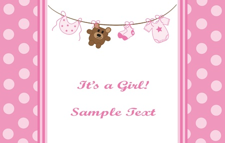Photo for Pink Baby Girl Announcement - Royalty Free Image