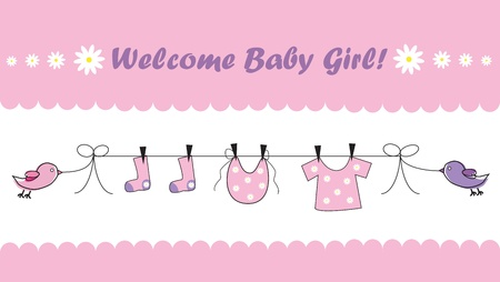 Photo for Welcome Baby Girl - Royalty Free Image