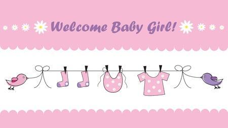 Foto de Welcome Baby Girl - Imagen libre de derechos