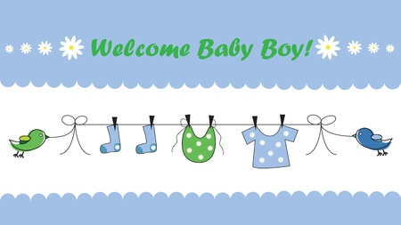 Photo for Welcome Baby Boy - Royalty Free Image