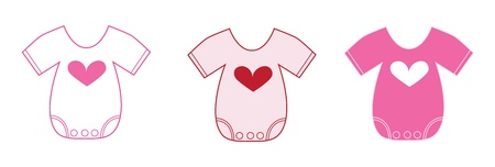 Photo for Valentine Baby Clothes - Royalty Free Image