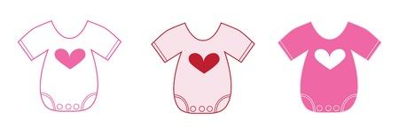 Photo pour Valentine Baby Clothes - image libre de droit