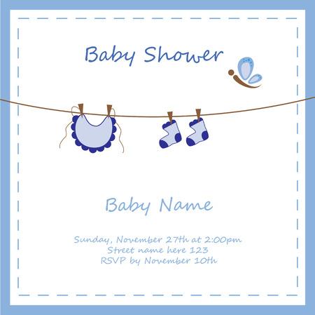 Photo pour Baby Boy Shower Invitation - image libre de droit