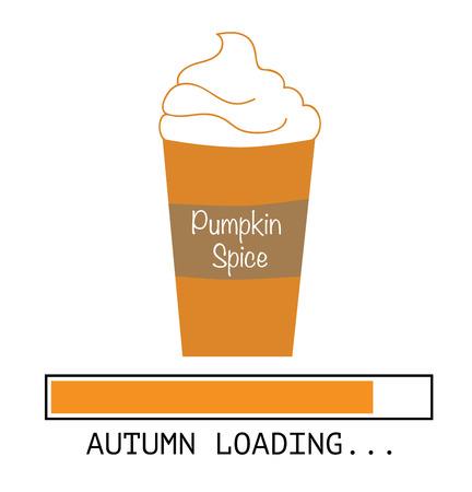 Vektor für Pumpkin Spice Coffee - Lizenzfreies Bild