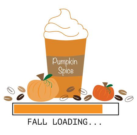 Vektor für Pumpkin Coffee - Lizenzfreies Bild