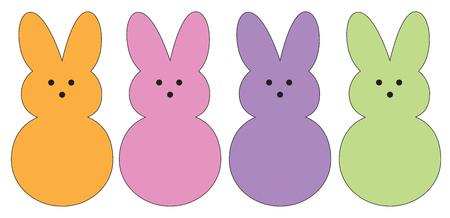Ilustración de Easter Bunnies - Imagen libre de derechos