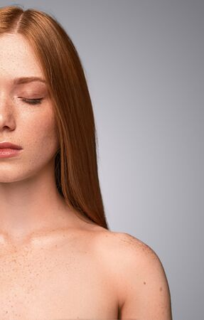 Photo for young woman with closed eyes after spa - Royalty Free Image