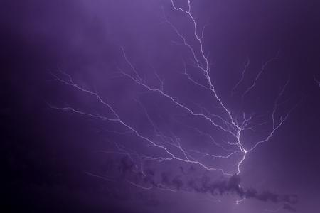 Branching Lightning at Night