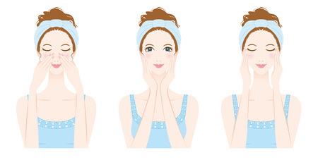 Illustration for Woman skin care, Beauty - Royalty Free Image