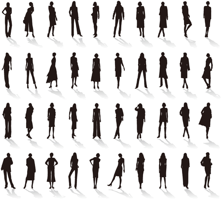 Ilustración de Silhouette of Women's fashion. - Imagen libre de derechos