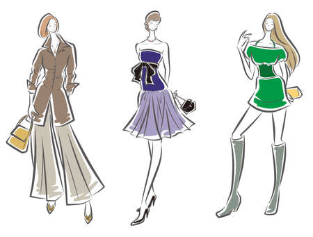 Illustration for Fashion illustration of the woman - Royalty Free Image
