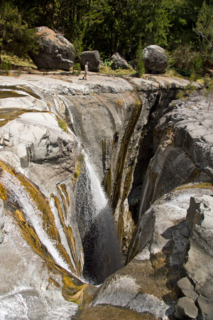 The Trois Roches waterfall at Reunion Island National Park