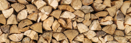 Photo for Firewood stack for use as a background - Royalty Free Image