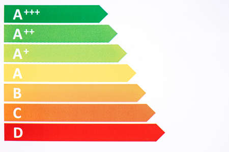 Photo for Energy efficiency rating. Ecological classes in the European union - Royalty Free Image