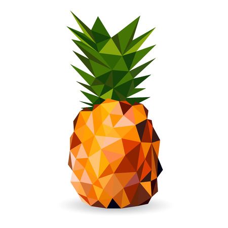 Illustration for Vector illustration of a pineapple rendered in a geometric style - Royalty Free Image