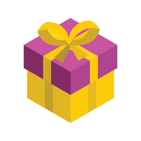 Gift Box 3d Isometric Isolated Cardboard Boxes Gift Vector Illustration Royalty Free Vector Graphics