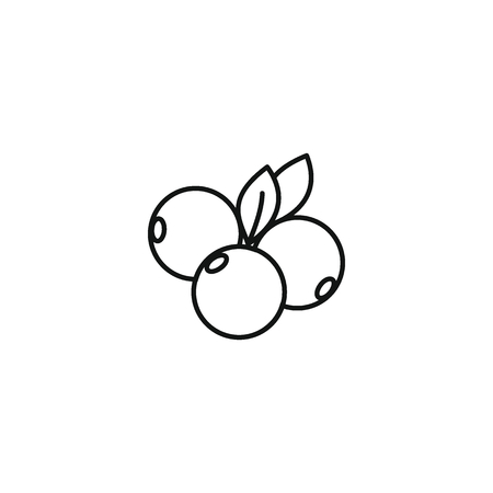 Illustration for Berry icon outline style - Royalty Free Image