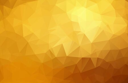 Illustration for Abstract golden, yellow background from triangles, vector illustration. Eps 10. - Royalty Free Image