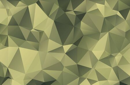 Photo pour Abstract vector military background made of triangles. Background color is green, khaki, protective, camouflage. Pattern for decorating clothes, uniforms and fabrics. eps10. - image libre de droit