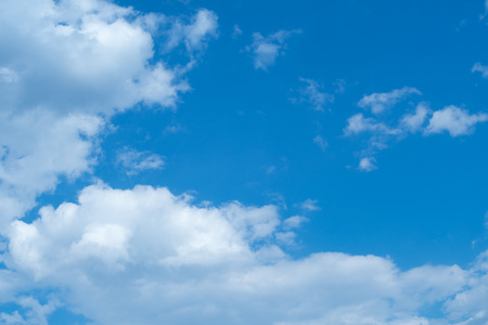 White heap clouds in the blue sky at the summer day.with copy space.