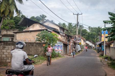 SRI LANKA. BERUWELA - August 15, 2015. Port. The Street near the Fishing Port.