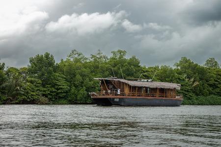 SRI LANKA. BENTOTA - August 15, 2015. Bentota River. Pleasure boat on the river Bentota.